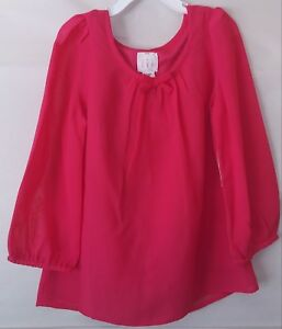 Canyon River Blues Girls' Bow-Back Top Size Small 7/8 Fuchsia New with Tags $48