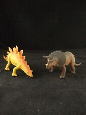 1985 Imperial Dinosaurs Triceratops and Stegosaurus