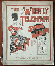 The Weekly Telegraph Song Album No.2, Songs, Duets etc. Music Book Early 1900's