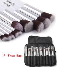 Vander 10PCS Makeup Brush Set Cosmetic Foundation Power Kabuki Brushes +Bag