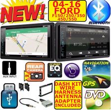 04-16 FORD F150 250 350 450 550 NAVIGATION CD DVD USB AUX BLUETOOTH Radio Stereo