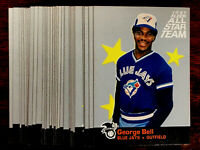 1987 Fleer GEORGE BELL ~ 10 CARD LOT ~ ALL-STAR CARDS #9 OF 12