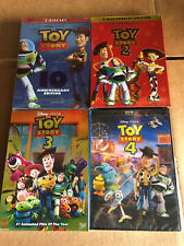 Toy Story 1,2,3,4 Complete Series Dvd Bundle Set Combo Brand New Clearance Lot