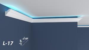 XPS Polystyrene LED Indirect Lighting Up lighter Lightweight Coving Cornice L-17