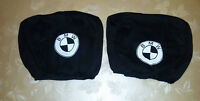 2 BLACK Headrest Covers for BMW Head Rest cover 316 325 M3