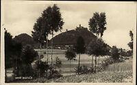 Hrad Bezděz Tschechien alte s/w AK ~1920/30 Blick über die Felder auf die Burg