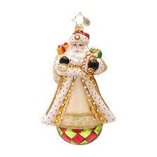 Christopher Radko Golden Glamour - Jeweled Gold Santa on Ball Ornament 1016736