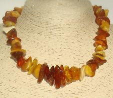 """Old Authentic Baltic Amber Necklace 17.1 """" ( 43.5 cm )"""