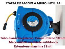 ARROTOLATORE AVVOLGITUBO TUBO PER ARIA COMPRESSA 20 +1,5 METRI MAGGIORATO 15mm