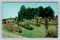 Hershey PA, Chocolate Town Rose Garden Boys School Chrome Pennsylvania Postcard