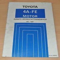 Toyota Corolla 4WD Motor 4A-FE 1987 AE98 Werkstatthandbuch Reparaturanleitung