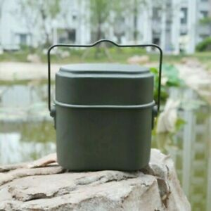 Army Lunch Box Outdoor Camping Tablewares Military Mess Kit Food Cup Bowl Travel