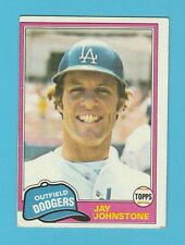 BASEBALL - TOPPS  GUM  -  JAY  JOHNSTONE  -  OUTFIELD  -  DODGERS  -  1981