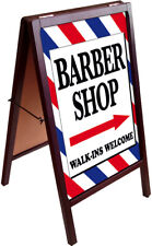 Barber Shop Walk Ins Welcome A Frame Sidewalk Sign Double Sided 172875