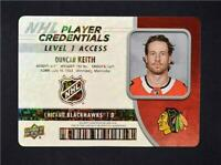 2018-19 18-19 UD Upper Deck Player Credentials Level 1 #NHL-DK Duncan Keith