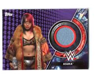 WWE Asuka 2018 Topps Women's Division Purple Mat Relic Card SN 14 of 99