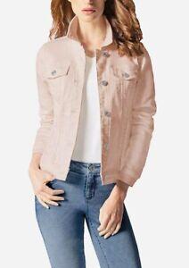 BUFFALO David Bitton Women's Light Pink Knit Denim Stretch Jacket.