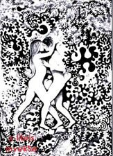 EX LIBRIS Bookplate Ronny SEVERIN - erotic couple in floral environment