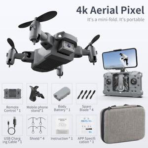Mini Drone 4K Camera HD Foldable Quadcopter OneKey Return Wifi FPV RC Helicopter