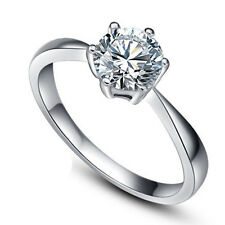 Cubic Zirconia Engagement Ring Womens 925 Silver Wedding Band  Jewelry Size 4-8