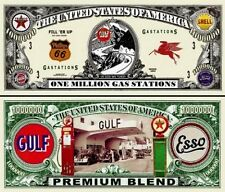 STATION SERVICE - BILLET 1 MILLION DOLLAR US ! Essence Esso Shell Texaco Diesel