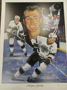 Wayne Gretzky L.A. Kings Lithograph by Marino (18 x 24)