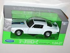 Welly - 1972 Pontiac Firebird Trans Am (Blanco) - Die Cast Modelo Escala 1:24