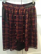 Zimmerman Wonder Check Military Skirt - Size 0 BNWT (RRP $350)