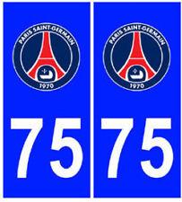 Autocollant PARIS 75 plaque immatriculation auto