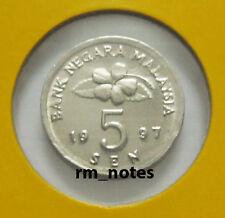 "MALAYSIA  5sen coin 1997 KEY DATE  Gasing  ""BU"""