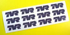 TVR logo style WHEEL DECALS stickers Chimera Cerbera