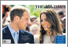 Prince William And Kate Middleton Birth Of Royal Baby George The Times Newspaper