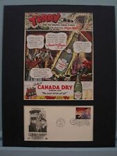 Terry and the Pirates Ad for Canada Dry Ginger Ale + First Day Cover of stamp