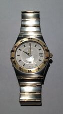 GENT'S S/STEEL &  GOLD OMEGA CONSTELLATION QUARTZ + BOX  PAPERS SPARE LINK