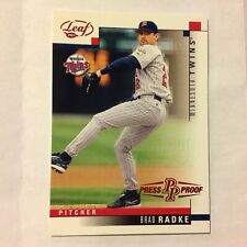 2003 Leaf Brad Radke #56 Twins 1/1 made 24th national Atlantic City Press Proof
