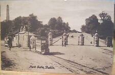 Irish Postcard PHOENIX PARK GATE Dublin Ireland Wellington Obelisk Sibley JV