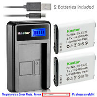 Kastar Battery LCD Charger for Nikon EN-EL23 MH-67P & Nikon Coolpix B700 Camera