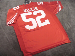 PATRICK WILLIS #52 - San Francisco 49ers RED Stitched Jersey -- ALL SIZES AVAIL.