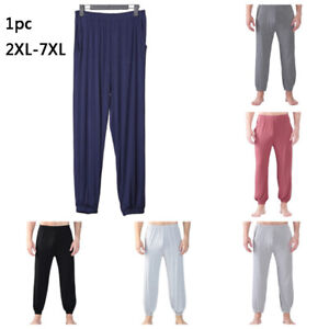Men PJ Pants Leisure Wear Elastic Waist Yoga Sport Pyjama BottomsSummer Casual