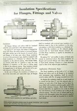 ASBESTOS Insulation Specifications Valves Fittings Flanges JOHNS-MANVILLE 1949
