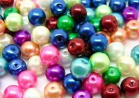 Mix Round Glass PEARLS Beads 400 Pcs -  4mm 200Pcs - 6mm 100 Pcs - 8mm  ML