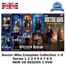 Doctor Who Complete Collection  1-9  Series 1 2 3 4 5 6 7 8 9 NEW UK R2 DVD