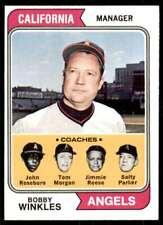 1974 (Njs5) Bobby Winkles , John Roseboro , Salty Parker , Tom Morgan , Jimmie