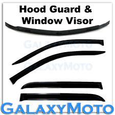 14-15 Chevy Silverado 1500 Crew Cab Smoke Hood Guard Bug Deflector+Window Visor