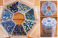 NEW Hotfix Box Set Crystal Diamante Rhinestones Dk BLUE