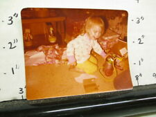 Christmas photo 1978 Fisher Price Oscar the Grouch Muppet trash can pull toy