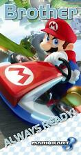 MARIO KART BROTHER ALWAYS READY BIRTHDAY CARD SUPER MARIO NEW GIFT