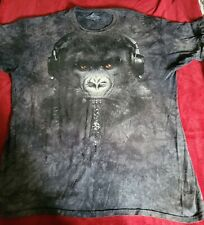 The Mountain Manimals 2011 Gorilla W/ Headphones Tie Dye T-Shirt Sz 3xl
