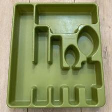 Vtg Rubbermaid Silverware/Flatware/Utens il Holder Tray, #2922 - Avocado Green b