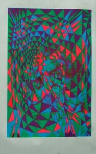 """Poe Poster 4 color day Glow silk screen, poster size 24"""" x 36"""""""